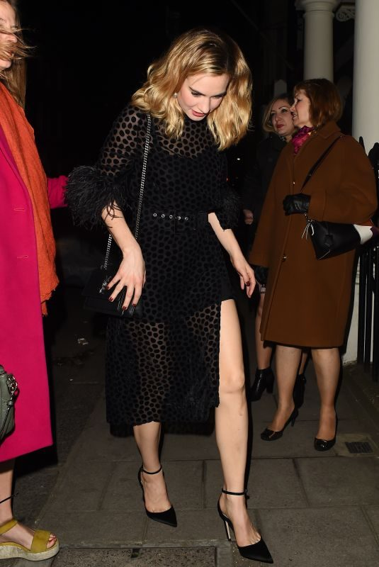 LILY JAMES Celebrates Her Birthday at Mark's Club in London 04/05/2019