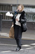 LILY JAMES Out and About in London