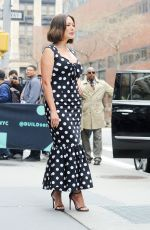 LINDSAY PRICE Arrives at AOL Build in New York 04/08/2019
