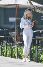 LOTTIE MOSS Waiting for a Cab in Los Angeles 04/11/2019