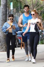 LUCY HALE Heading to a Gym in Los Angeles 04/02/2019