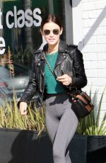 LUCY HALE in Tights Out and About in Studio City 04/05/2019