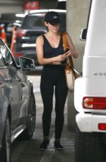 LUCY HALE Leaves Soul Cycle in Los Angeles 04/02/2019