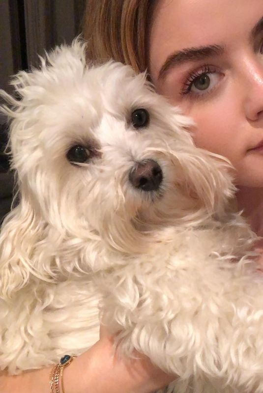 LUCY HALE with Her Dog - Instagram Pictures 04/01/2019