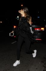 MADISN BEER Leaves Delilah in West Hollywood 04/05/2019