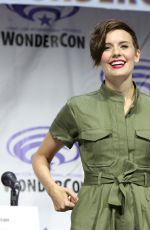 MAGGIE GRACE at Fear the Walking Dead Panel at WonderCon in Anaheim 03/31/2019