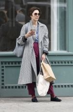 MAGGIE GYLLENHAAL Out Shopping in New York 04/14/2019