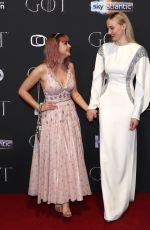 MAISIE WILLIAMS and SOPHIE TURNER at Game of Thrones, Season 8 Premiere in Belfast 04/12/2019
