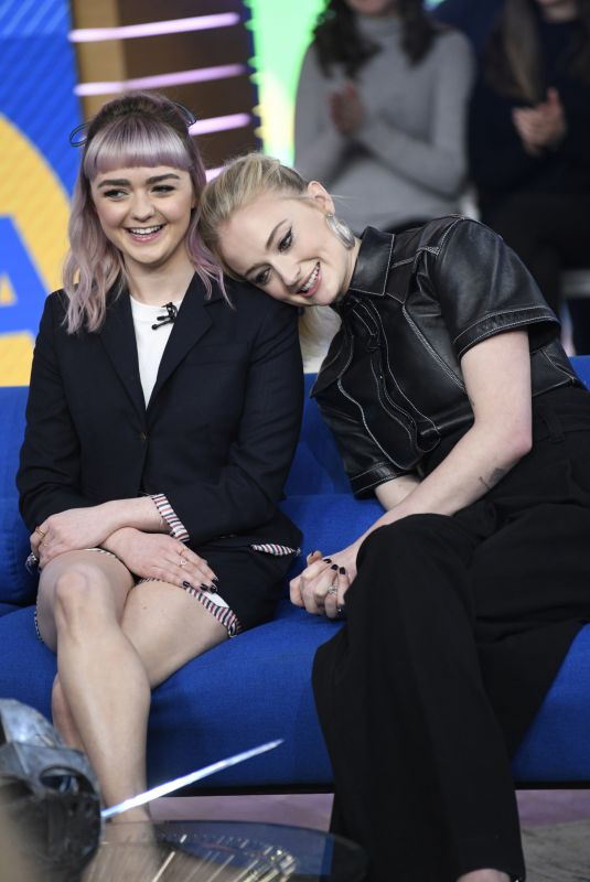MAISIE WILLIAMS and SOPHIE TURNER at Good Morning America 04/02/2019