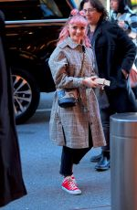 MAISIE WILLIAMS Arrives at Her Hotel in New York 04/01/2019