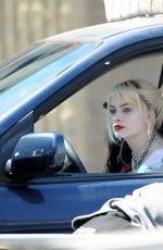 MARGOT ROBBIE on the Set of Birds of Prey in Los Angeles 04/08/2019