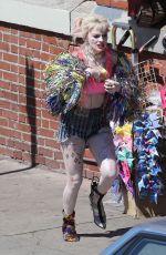 MARGOT ROBBIE on the Set of Birds of Prey in Los Angeles 04/09/2019
