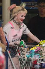 MARGOT ROBBIE on the Set of Birds of Prey in Los Angeles 04/12/2019