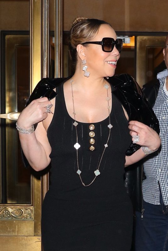 MARIAH CAREY Out in New York 04/20/2019
