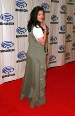 MARIE AVGEROPOULOS at The 100 Press Line at WonderCon in Anaheim 03/31/2019
