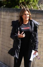 MARISKA HARGITAY on the Set of Law and Erder: Special Victims Unit in New York 04/10/2019