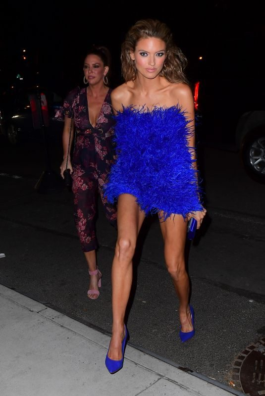 MARTHA HUNT Arrives at Her Birthday Party in New York 04/28/2019