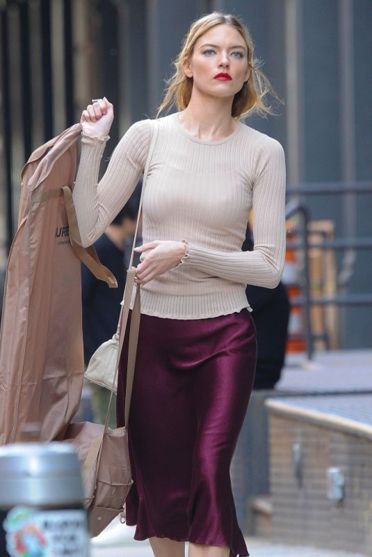 MARTHA HUNT Arrives at Taylor Swift's Apartment in New York 04/23/2019