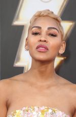 MEAGAN GOOD at Shazam Premiere in Hollywood 03/28/2019
