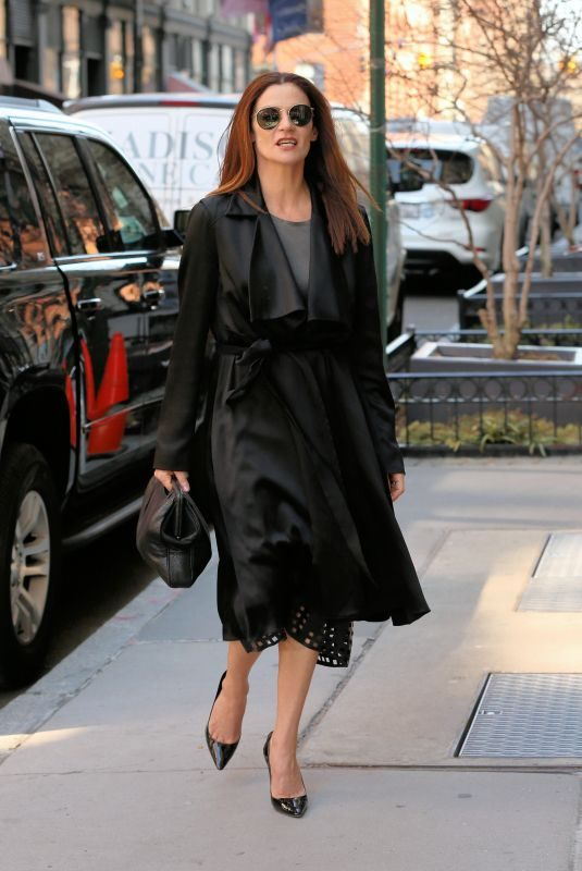 MICHELLE GOMEZ Arrives at Build Series in New York 04/04/2019
