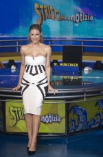 MICHELLE HUNZIKER at Striscia La Notizia Photocall in Milan 04/15/2019