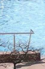 MICHELLE HUNZIKER in Bikini at Lake Garda in Gargnano 03/31/2019