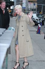 MICHELLE WILLIAMS Arrives at Late Show with Stephen Colbert in New York 04/09/2019