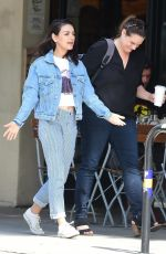 MILA KUNIS in Double Denim Out in Studio City 04/11/2019