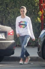 MILA KUNIS Out in Los Angeles 04/02/2019