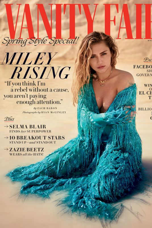MILEY CYRUS in Vanity Fair Magazine, March 2019 Issue