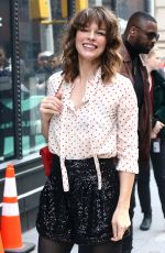 MILLA JOVOVICH Arrives at Build Series in New York 04/08/2019