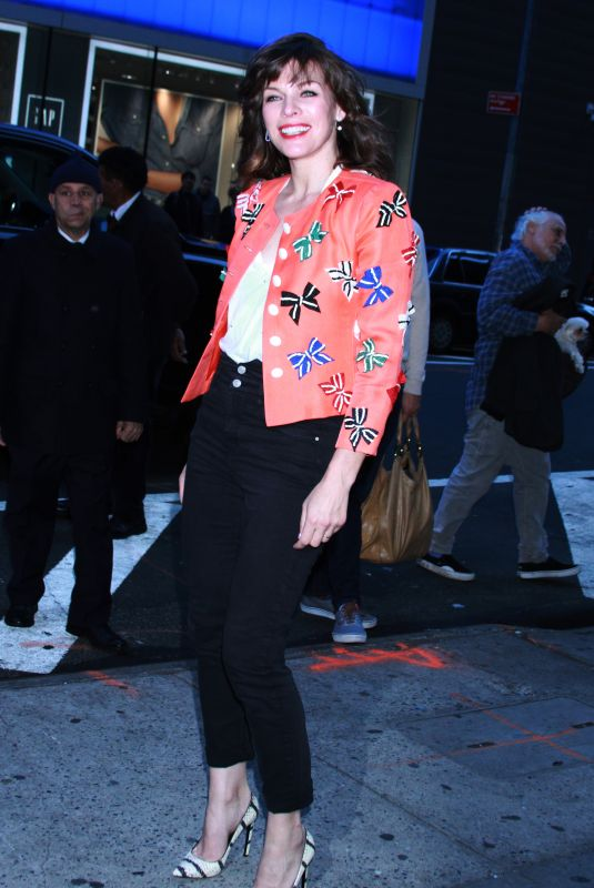 MILLA JOVOVICH Arrives at Good Morning America in New York 04/10/2019