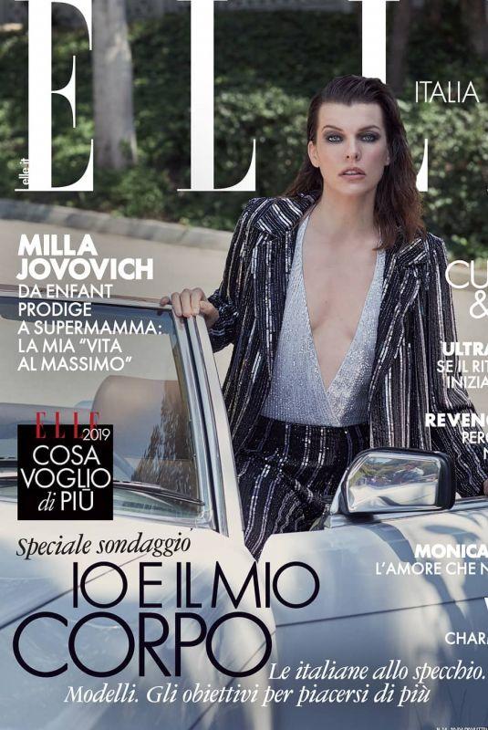 MILLA JOVOVICH in Elle Magazine, Italy April 2019