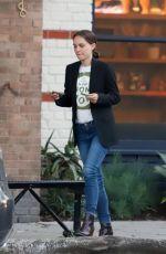 NATALIE PORTMAN Out for Dinner in Los Feliz 04/02/2019