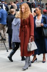 NICOLE KIDMAN at The Undoing Set in New York 04/13/2019