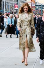 NICOLE KIDMAN on the Set of The Undoing in New York 04/13/2019