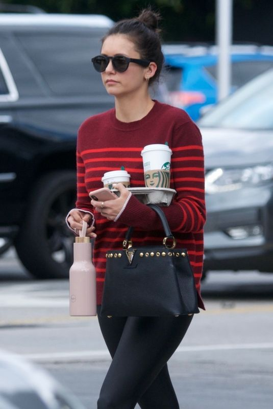 NINA DOBREV Out for Coffee in West Hollywood 04/16/2019