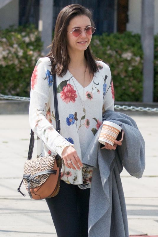 NINA DOBREV Out for Lunch at Gracias Madre in West Hollywood 04/03/2019