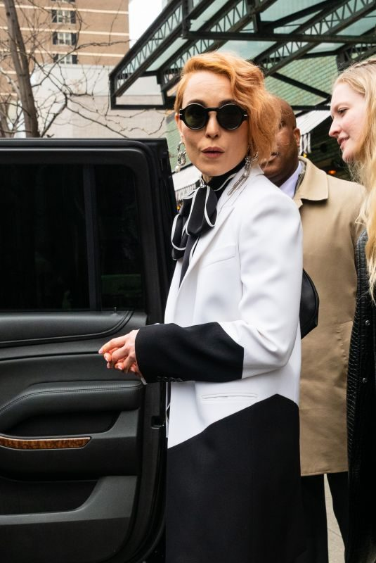 NOOMI RAPACE Leaves Bowery Hotel in New York 04/11/2019
