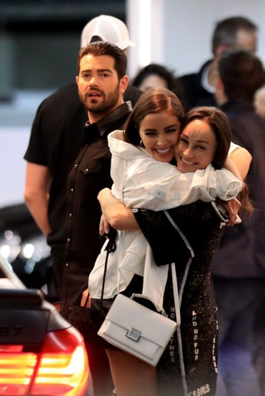 OLIVIA CULPO and CARA SANTANA Out with Jesse Metcalfe and Aaron Varos in Hollywood 04/07/2019
