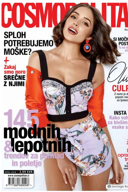 OLIVIA CULPO on the Cover of Cosmopolitan Magazine, Slovenia April 2019