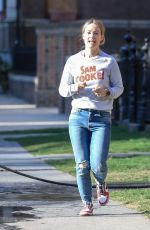OLIVIA WILDE in Ripped Jeans Out in New York 04/03/2019
