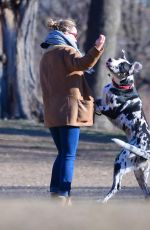 OLIVIA WILDE Out with Her Dog in New York 04/01/2019