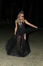 PARIS HILTON Night Out at Coachella 04/14/2019