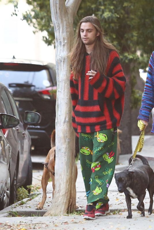 PARIS JACKSON and Gabriel Glenn Out with Their Dog in Los Angeles 04/10/2019