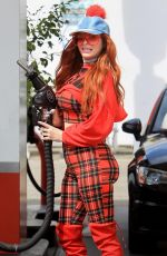 PHOEBE PRICE at a Gas Station in Beverly Hills 04/05/2019
