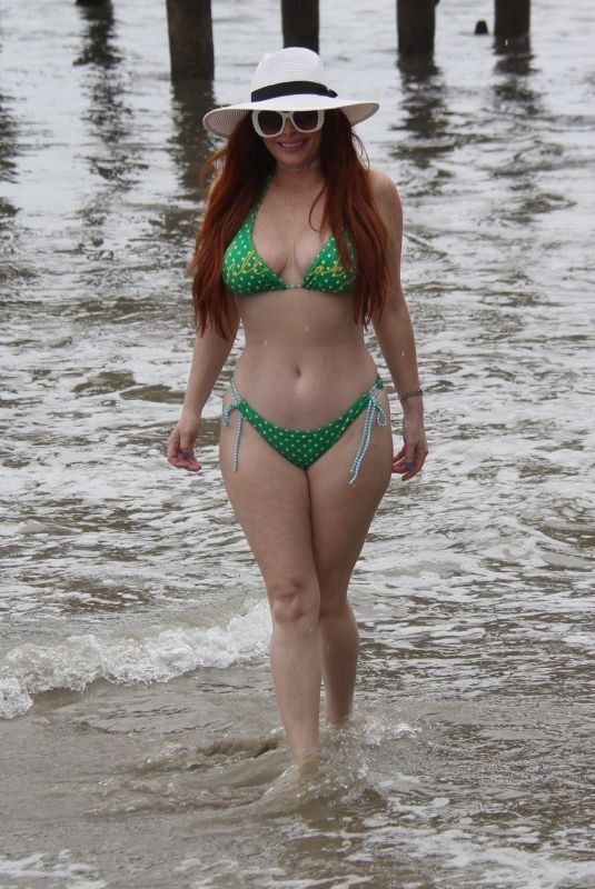 PHOEBE PRICE in Bikini at a Beach in Malibu 04/29/2019