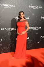 Pregnant AMY JACKSON at Pronovias Fashion Show in Barcelona 04/26/2019