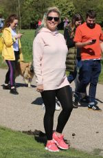 Pregnant GEMMA ATKINSON at Charity Cash for Kids Dog Walk Launch in Heaton Park in Manchester 04/11/2019