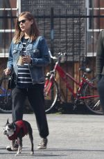 Pregnant KATE MARA and Jamie Bell Out with Their Dogs in Los Angeles 04/06/2019